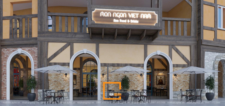 Thiết kế nhà hàng Món ngon Việt Nam - nơi giao thoa bản sắc