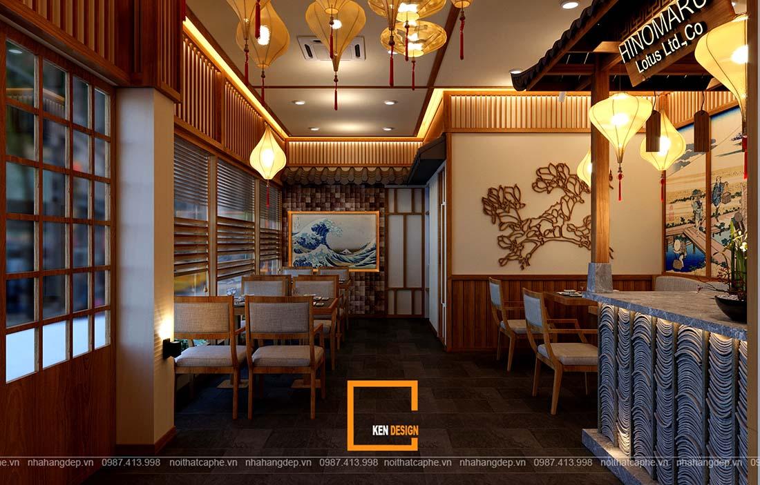 thiết kế nhà hàng Nhật Bản truyền thống