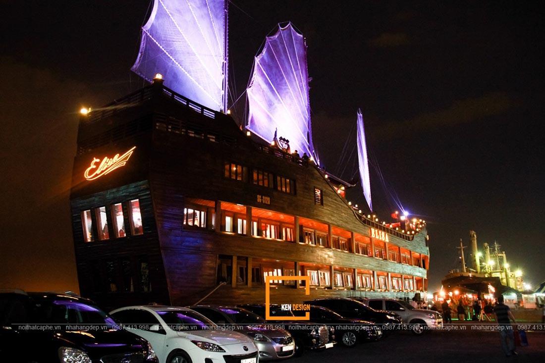 thiết kế nhà hàng nổi trên sông