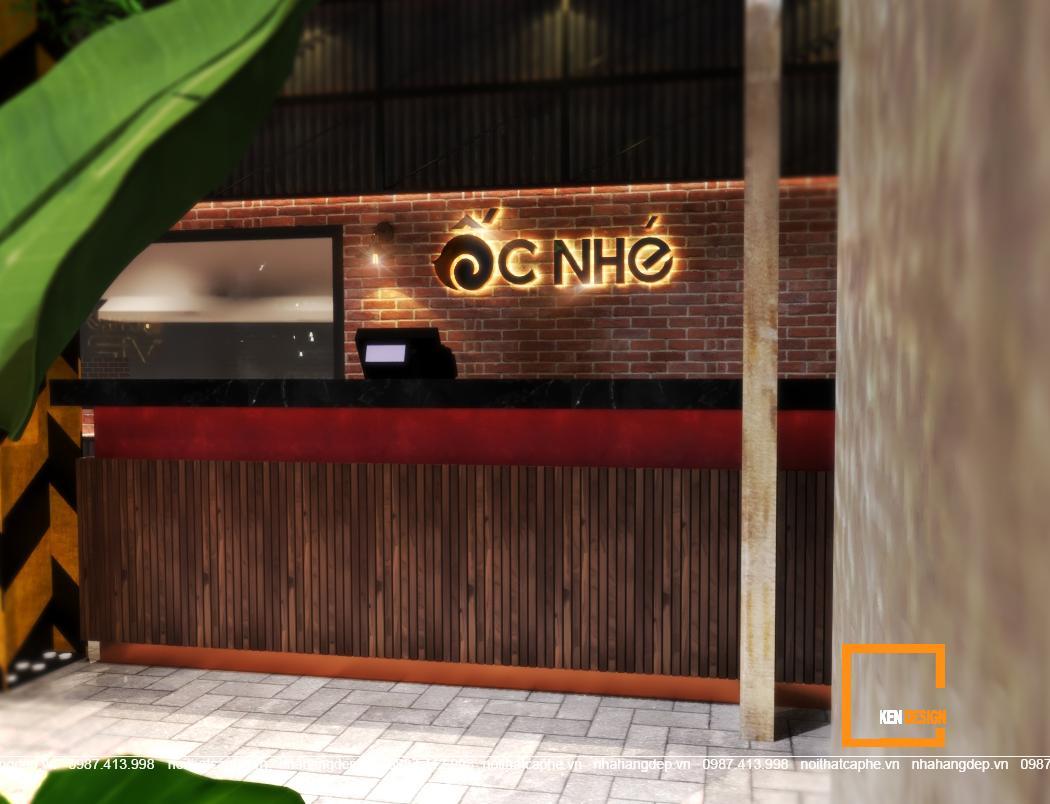Thiết kế nhà hàng Ốc Nhé tại Cần Thơ