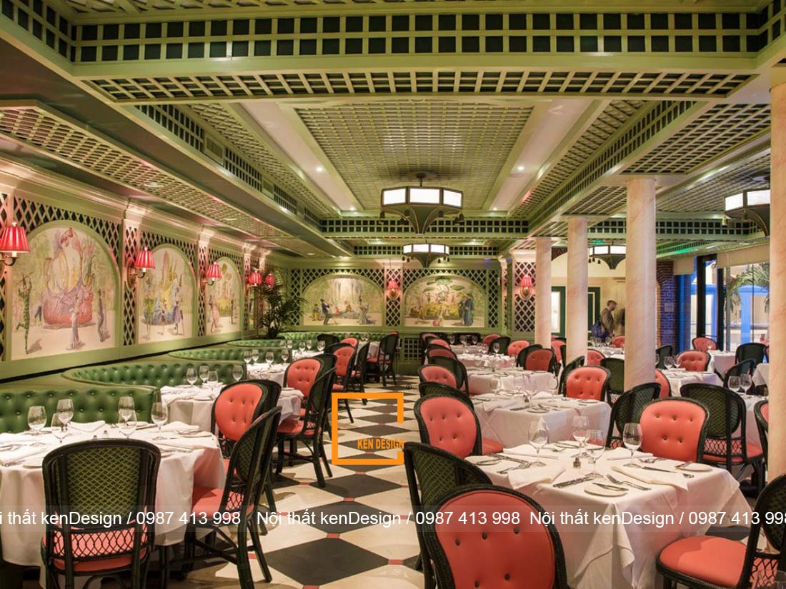 Thiết kế nhà hàng phong cách cổ điển sang trọng, cao cấp