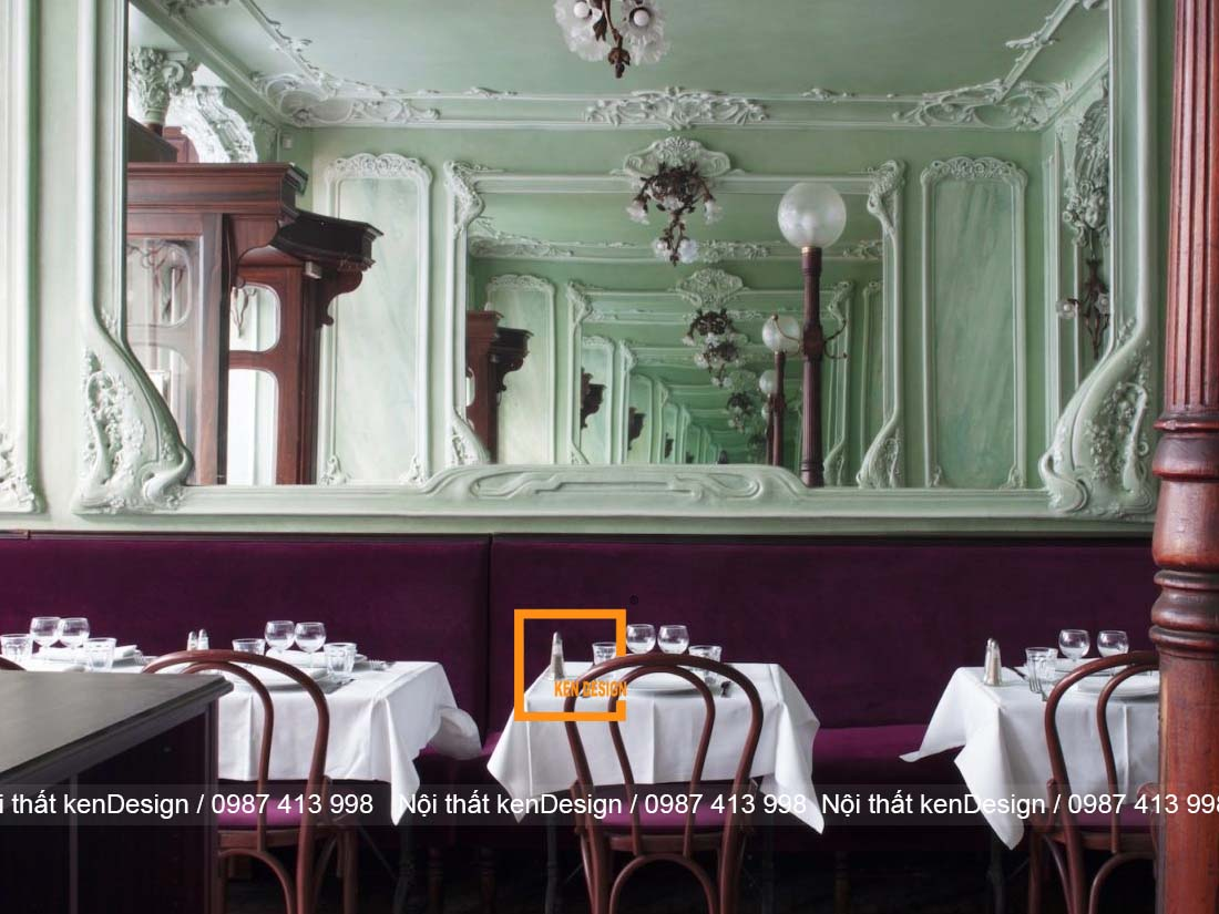 Thiết kế nhà hàng phong cách cổ điển