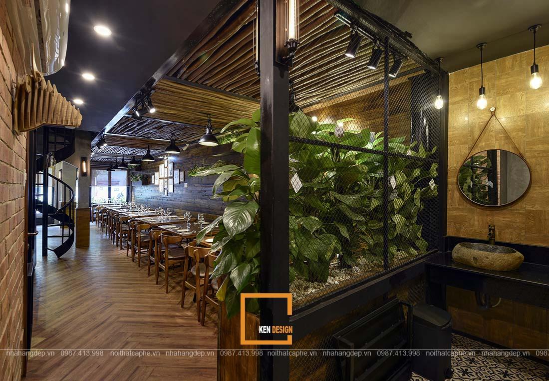 thiết kế nhà hàng phong cách Industrial