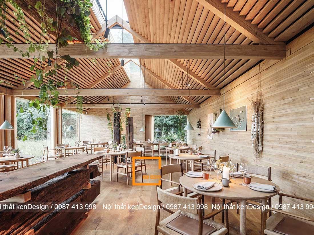 thiết kế nhà hàng phong cách Rustic,
