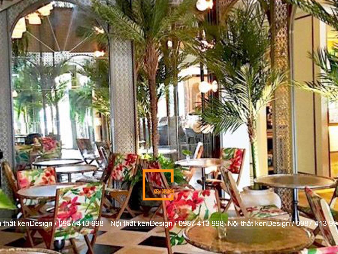 thiết kế nhà hàng phong cách Tropical