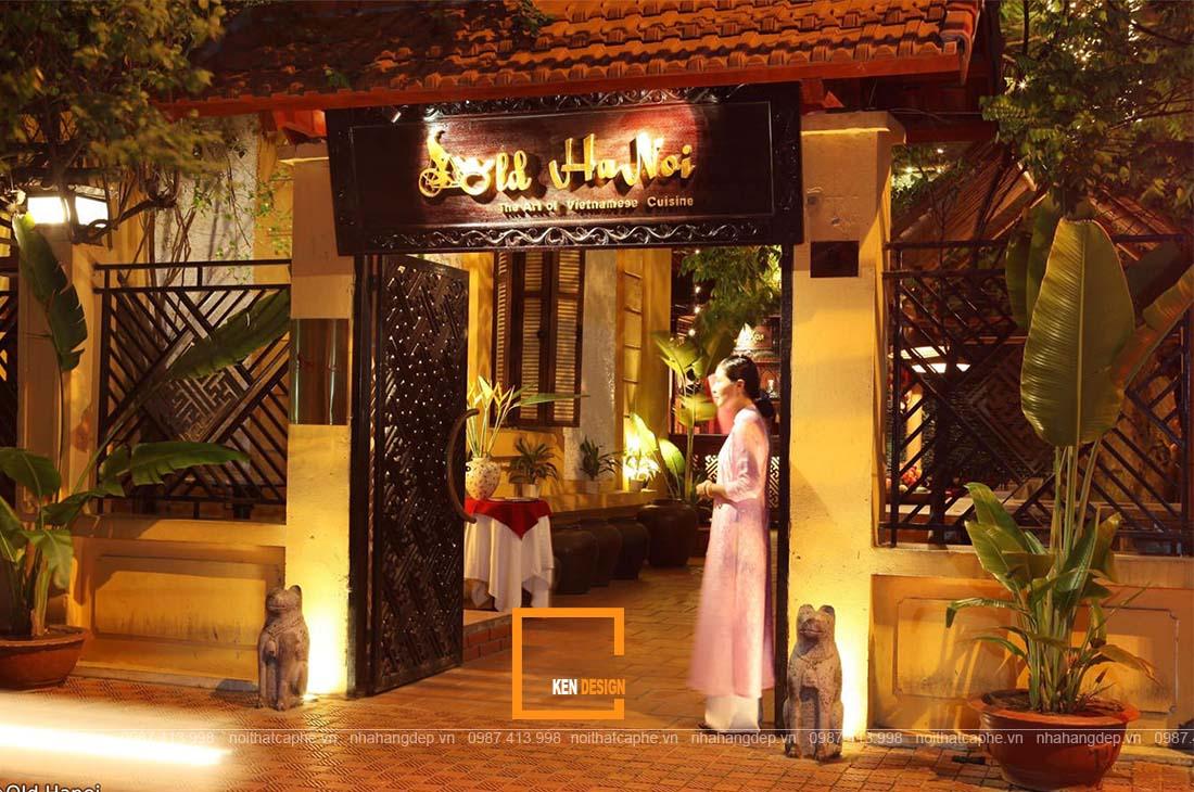 thiết kế nhà hàng sân vườn phong cách Đông Dương