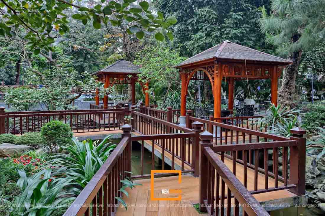 thiết kế nhà hàng sân vườn phóng khoáng
