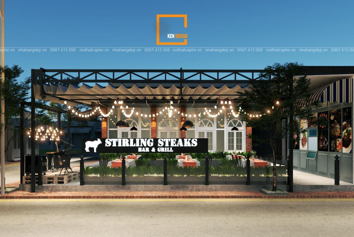 Thiết kế nhà hàng Stirling Steaks tại Hồ Chí Minh