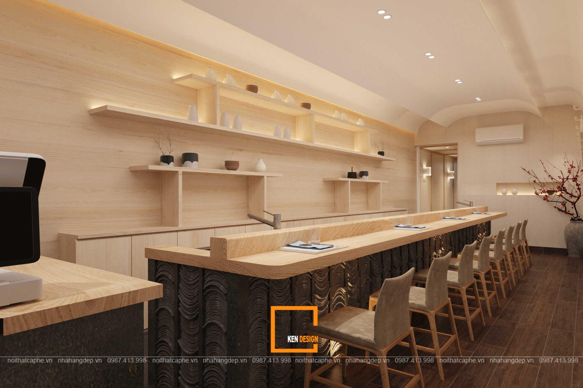 Thiết kế nhà hàng sushi IKEDA - không gian Nhật Bản hoàn hảo giữa lòng Hà Nội