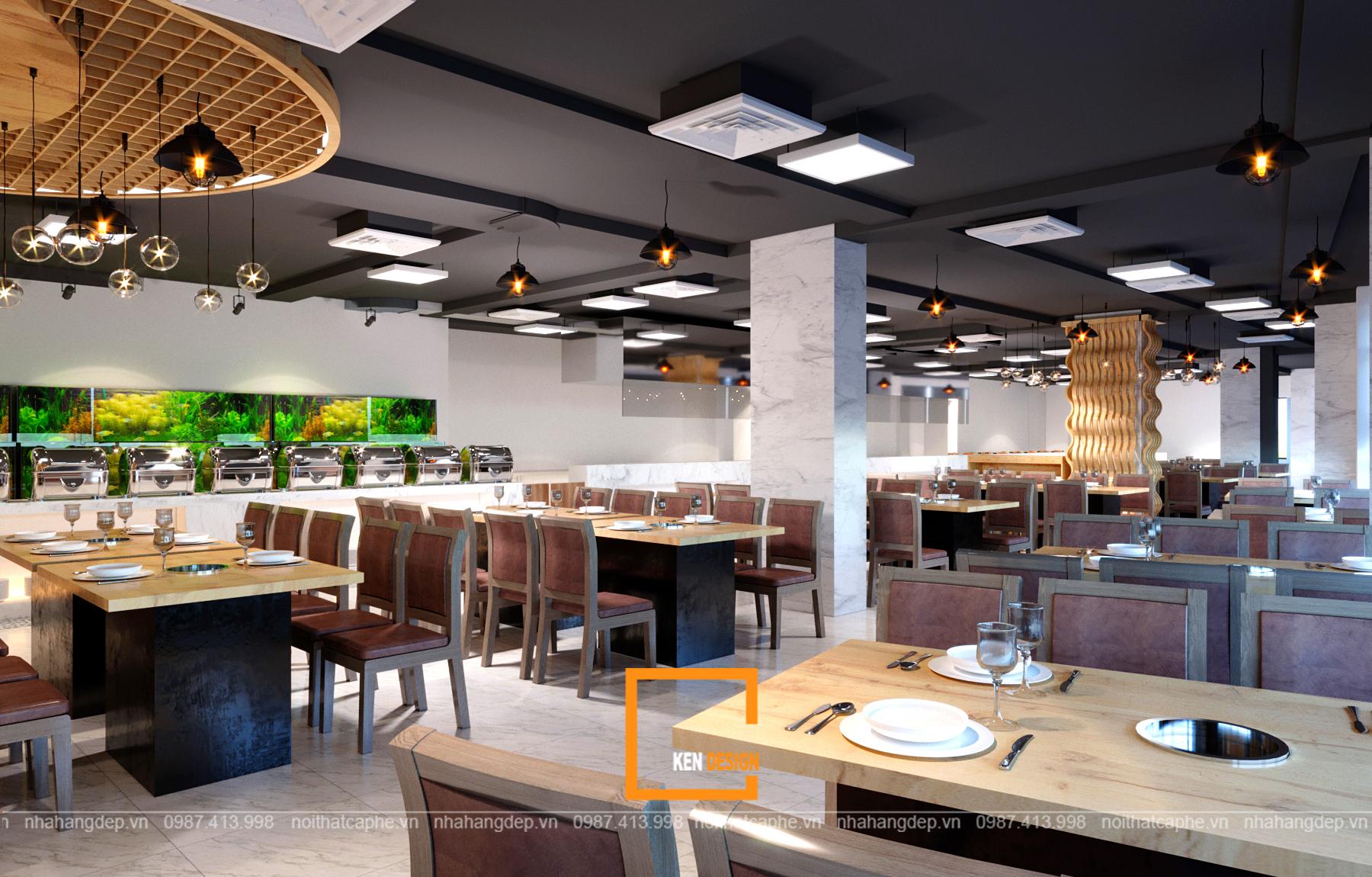 thiết kế nhà hàng tại Hà Nội