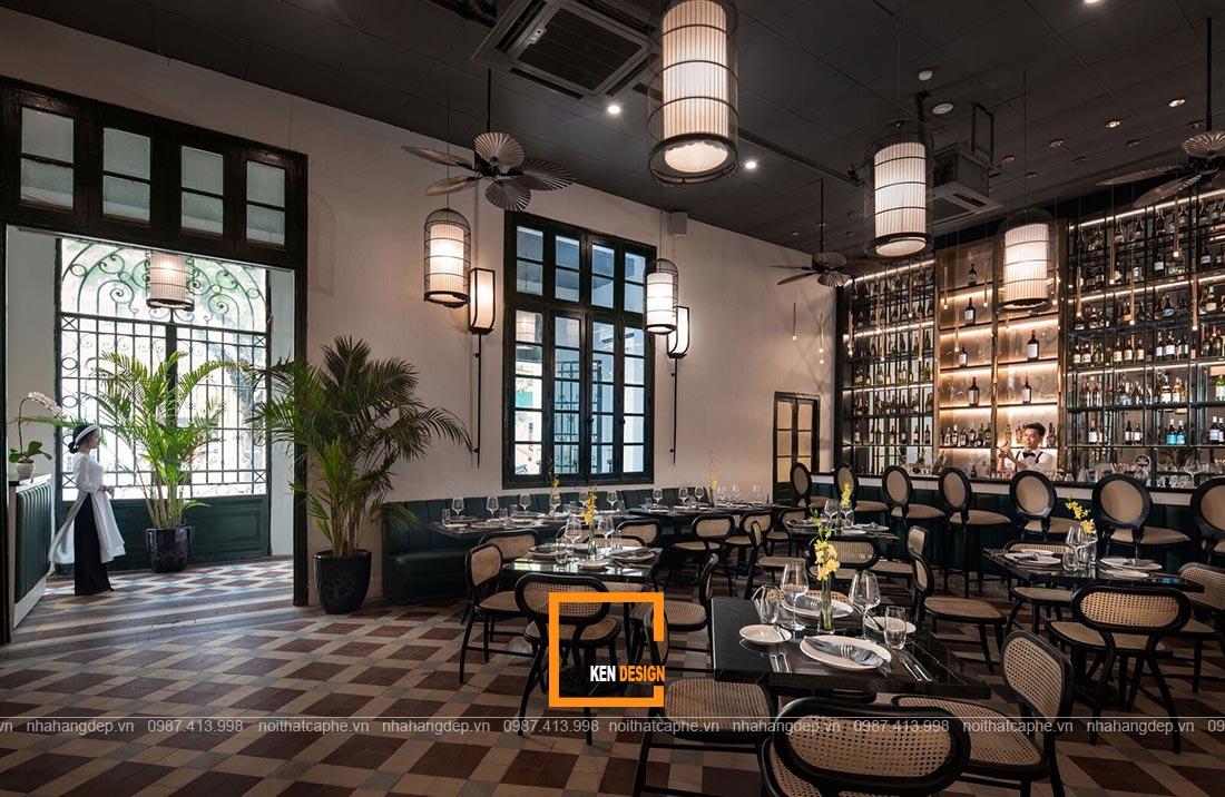 Thiết kế nhà hàng tại Hà Nội phong cách Indochina
