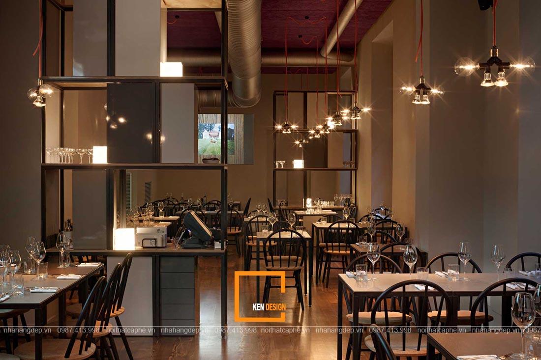 thiết kế nhà hàng tại Nam Định phong cách công nghiệp