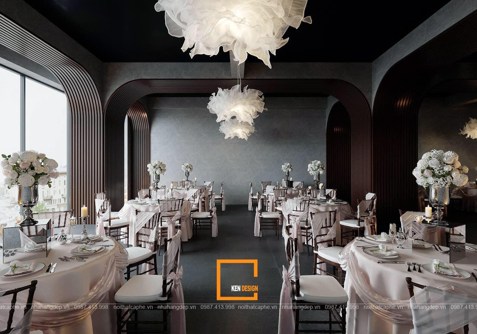 thiết kế nhà hàng tiệc cưới The Light Holiday