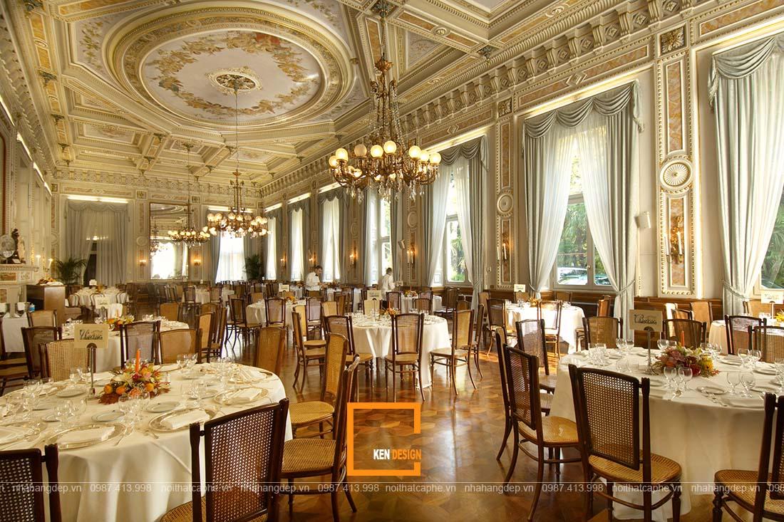 thiết kế nhà hàng tiệc cưới phong cách cổ điển s