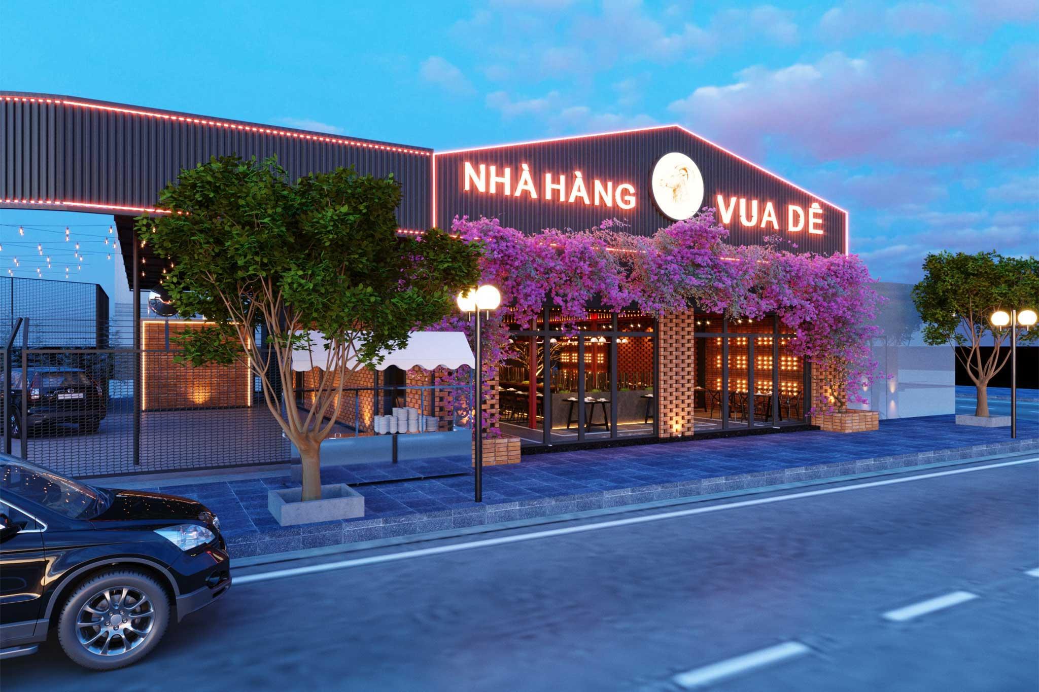 Thiết kế nhà hàng Vua Dê - chất công nghiệp hiện đại khỏe khoắn