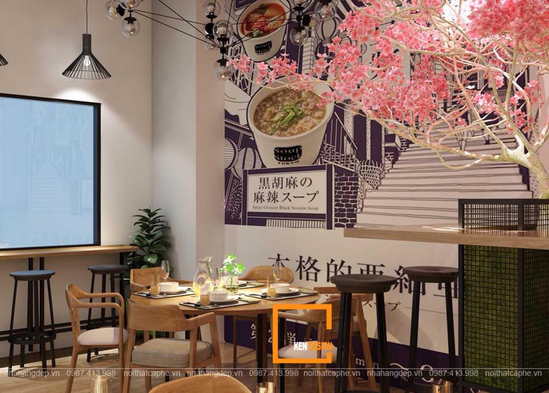 thiết kế nội thất nhà hàng giá rẻ