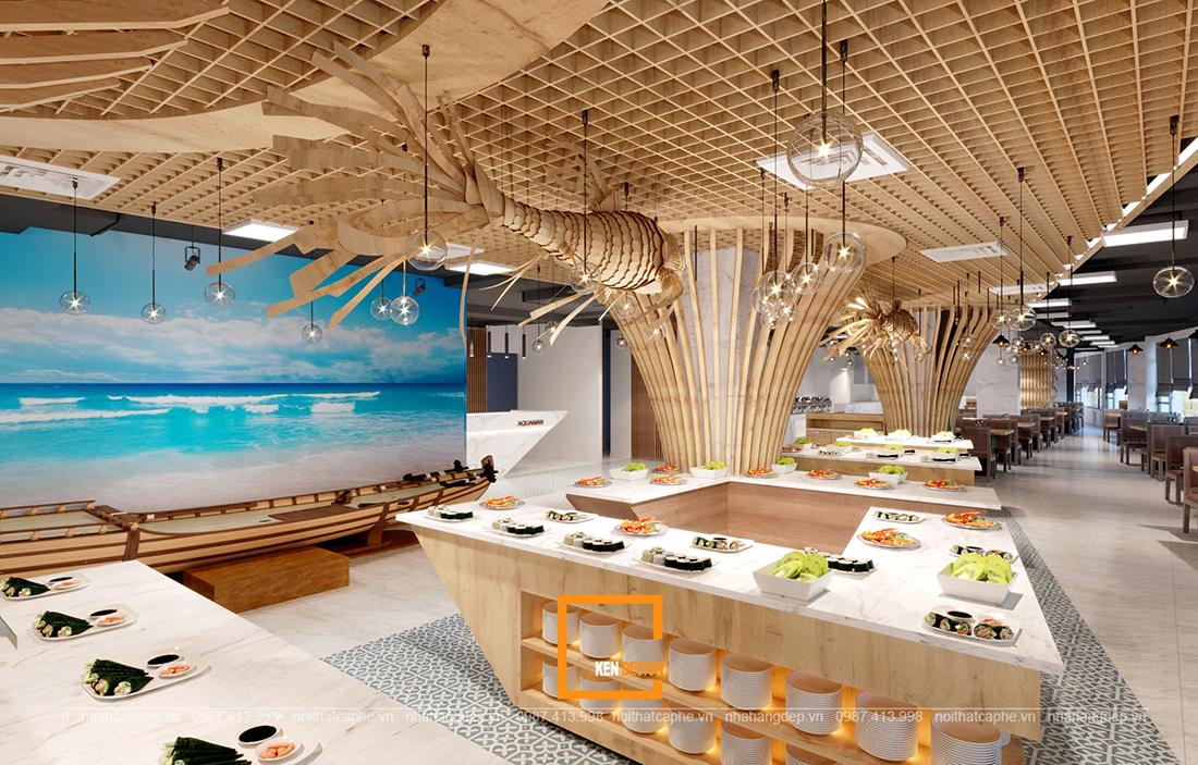 Thiết kế nội thất nhà hàng buffet – những lưu ý không thể bỏ qua