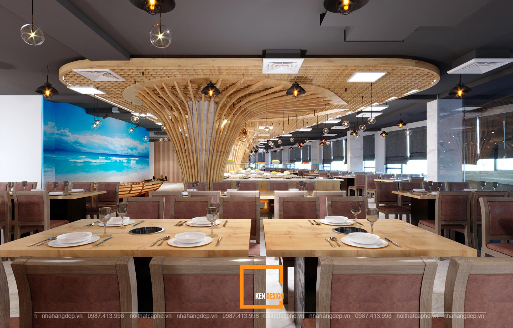 thiết kế không gian nhà hàng