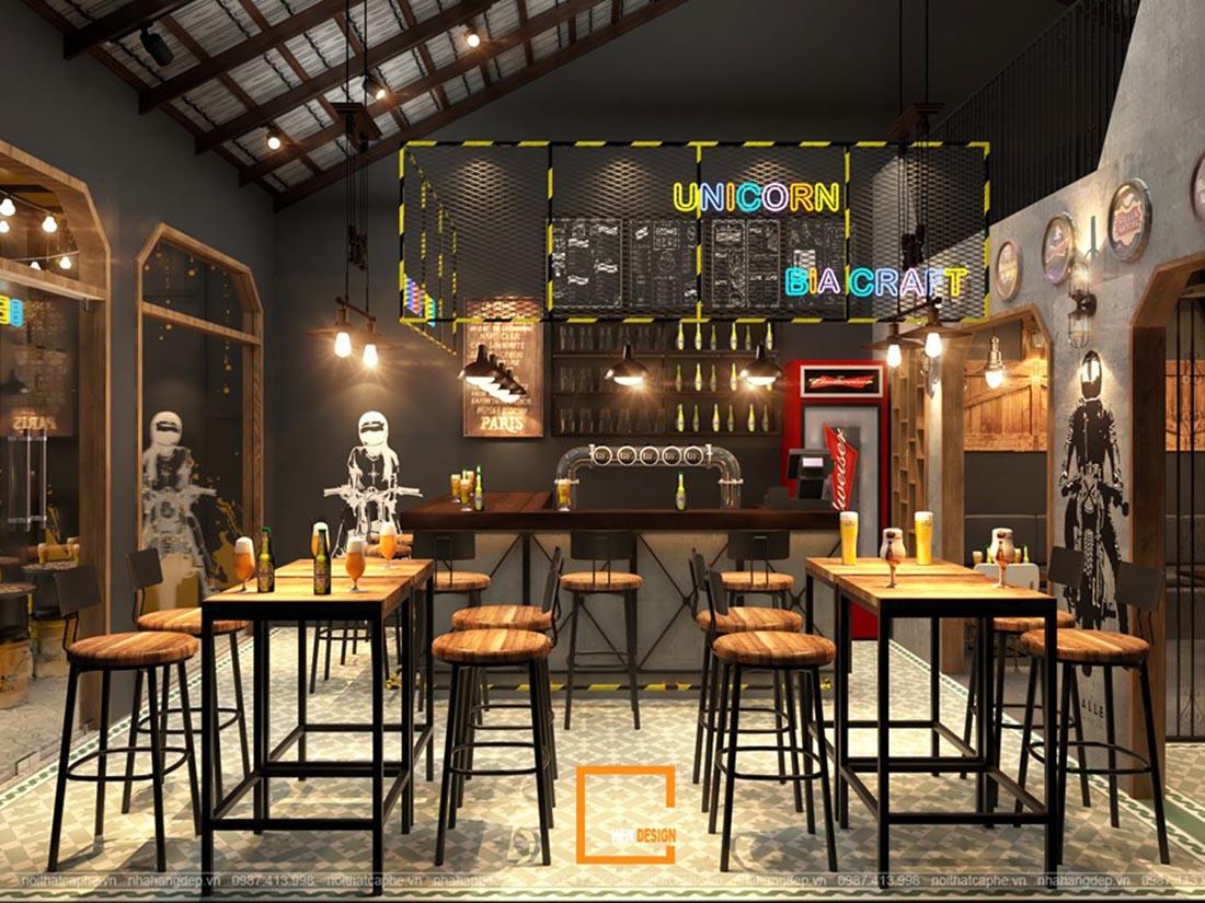thiết kế quán bia