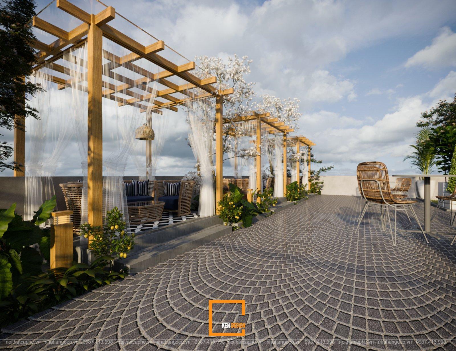 """Thiết kế quán cafe Windmills Coffee and Tea – Cối xay gió lấp ló sau những """"cục bông gòn"""""""