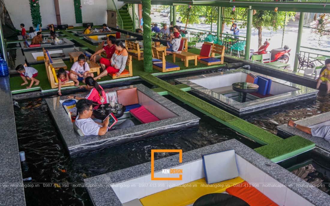 Những lưu ý không thể bỏ qua khi thiết kế quán cafe cá Koi