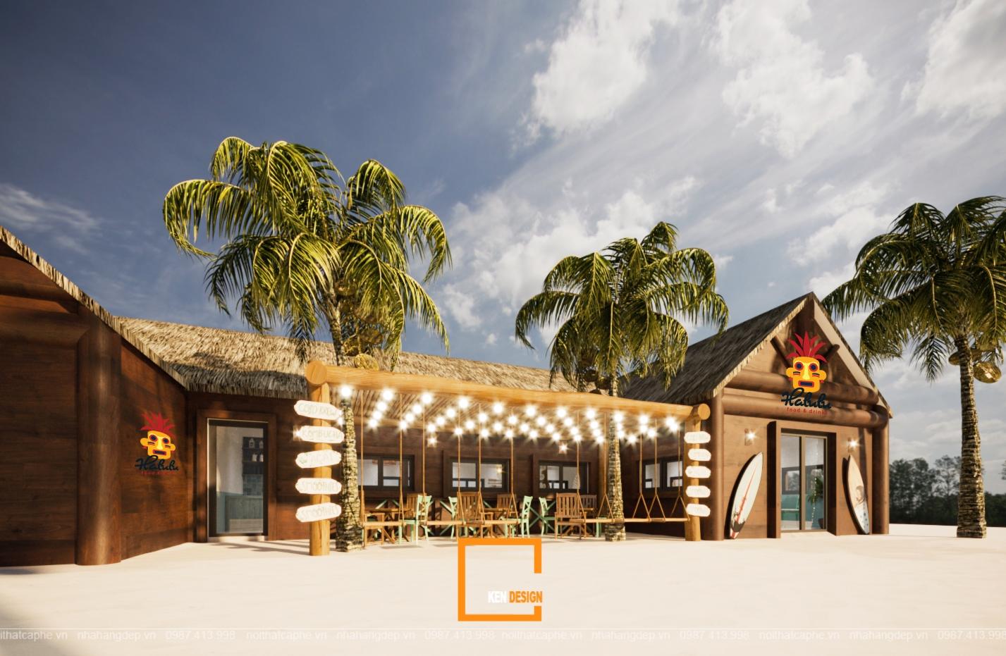 Thiết kế quán cafe Halulu Food & Drinks tại Phú Quốc cơ sở 2