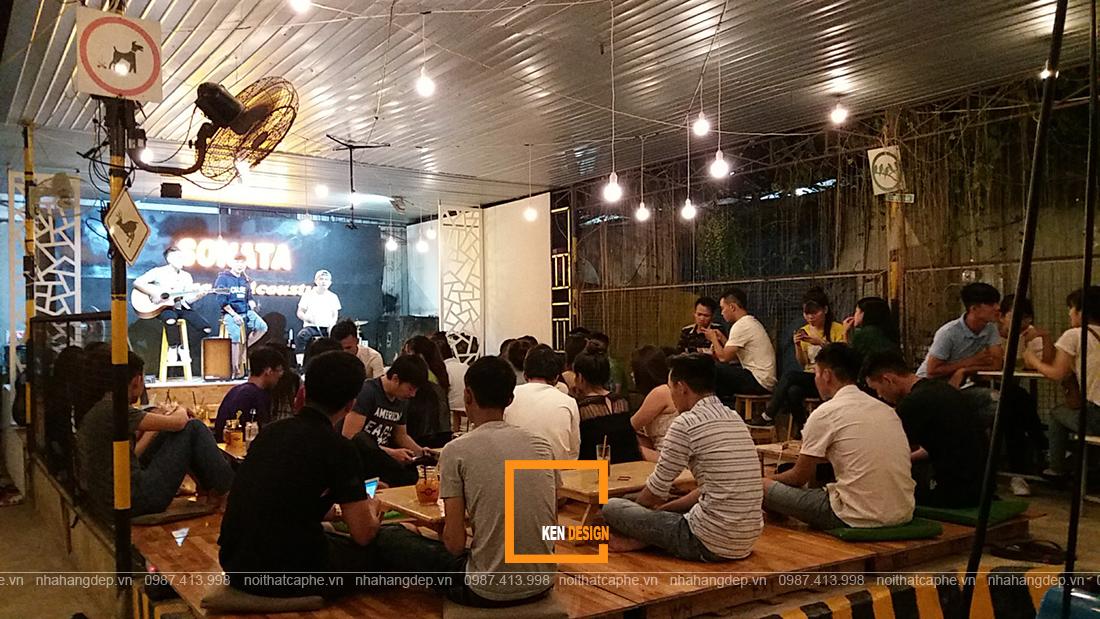 thiết kế quán cafe hát cho nhau nghe