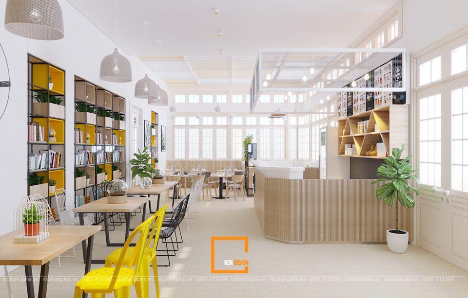 thiết kế quán cafe hiện đại chuẩn xu hướng