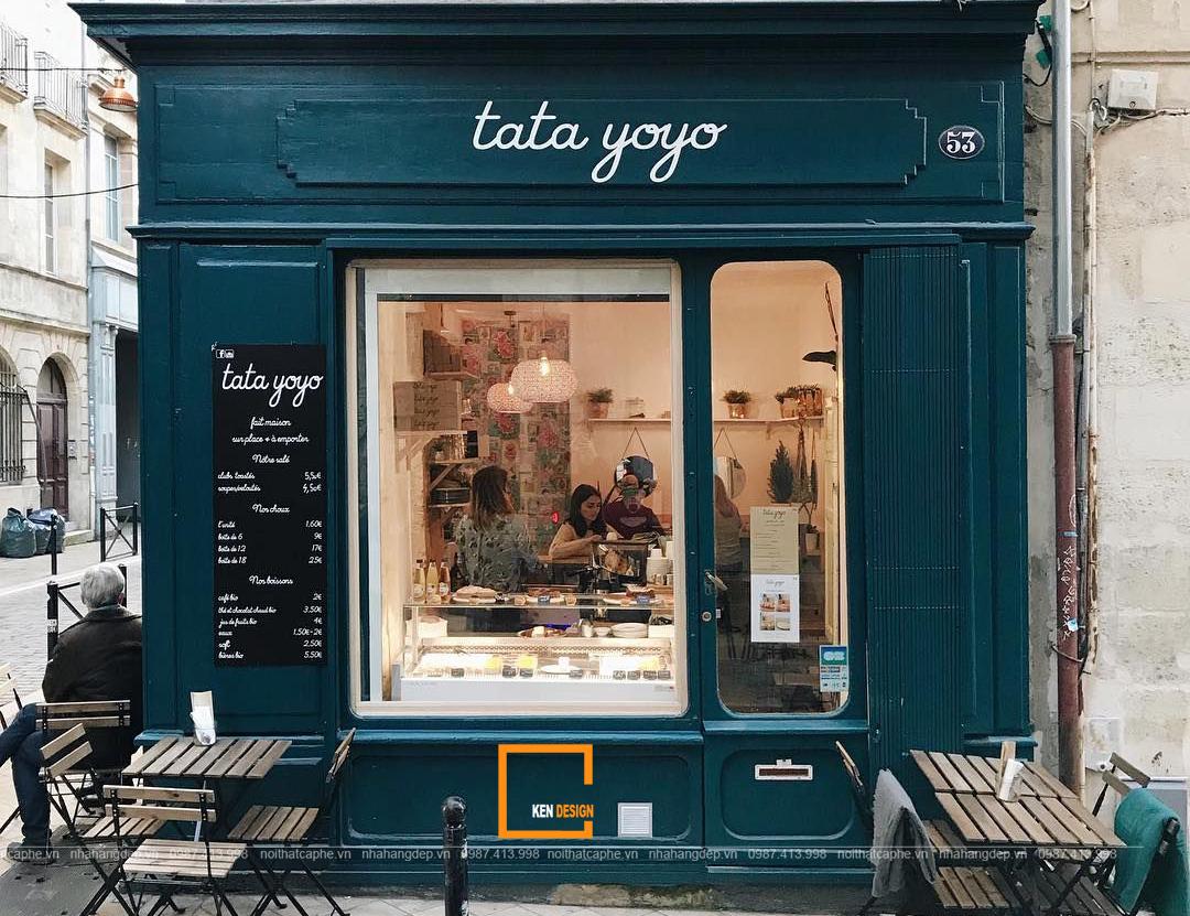 Nét thanh lịch nổi bật với thiết kế quán cafe kiểu Pháp
