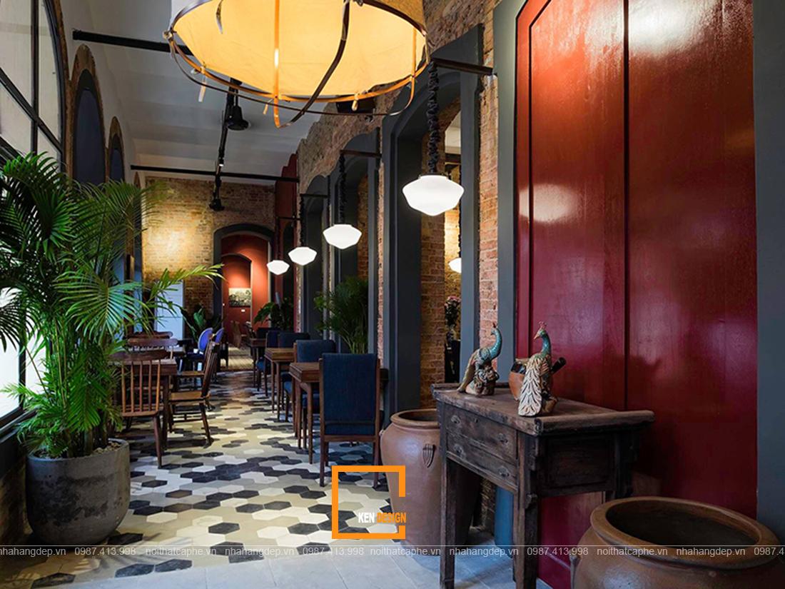 Thiết kế quán cafe phong cách Đông Dương