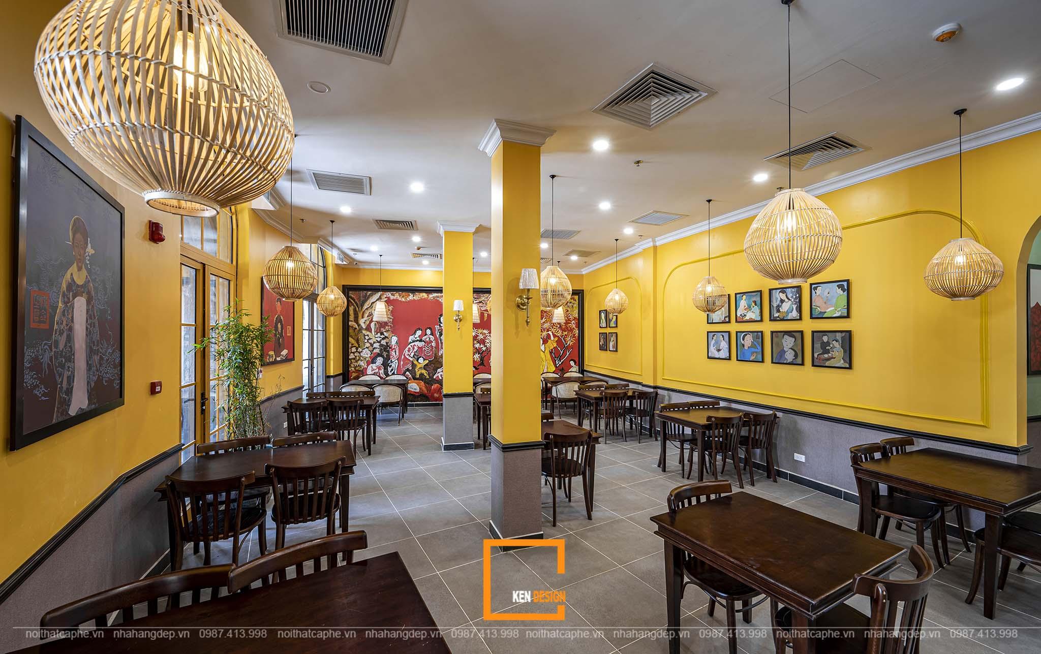 Vẻ đẹp tinh tế, vượt thời gian cùng thiết kế quán cà phê phong cách Đông Dương