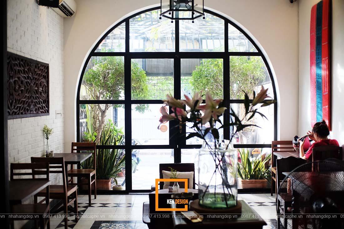 thiết kế quán cafe phong cách Indochina