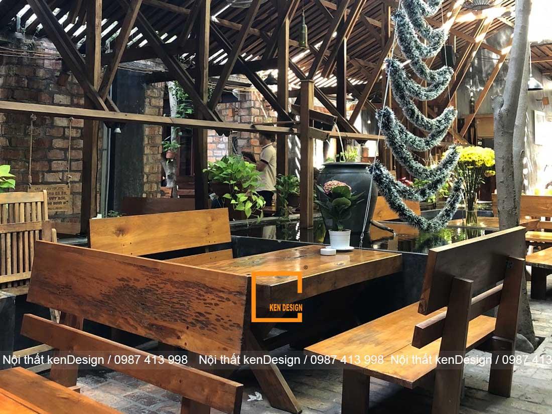 Những lưu ý trong thiết kế bàn ghế quán cafe thô mộc