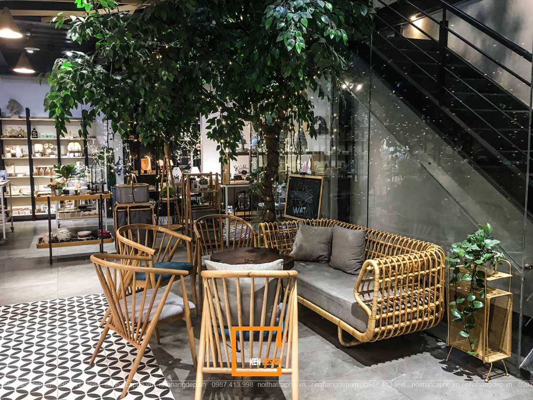 Thiết kế quán cafe phong cách tropical