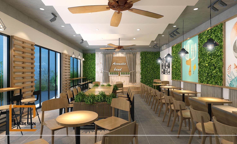 thiết kế quán cafe phòng trà