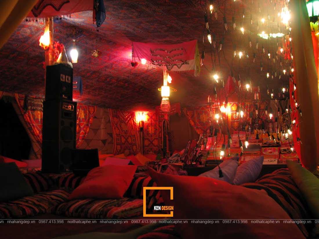 thiết kế quán cafe Shisha