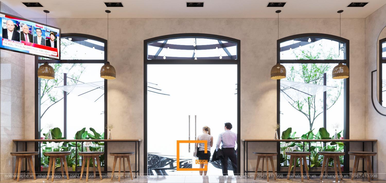 thiết kế quán cafe tại sảnh khách sạn