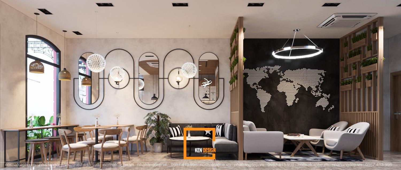 Thiết kế quán cafe tại sảnh khách sạn Blissian Hotel tại Phú Quốc