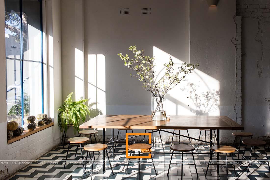 thiết kế quán cafe tại Thái Nguyên phong cách công nghiệp