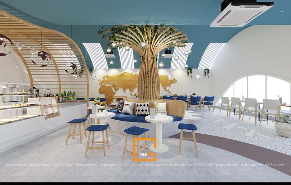 thiết kế quán cafe tại trung tâm thương mại