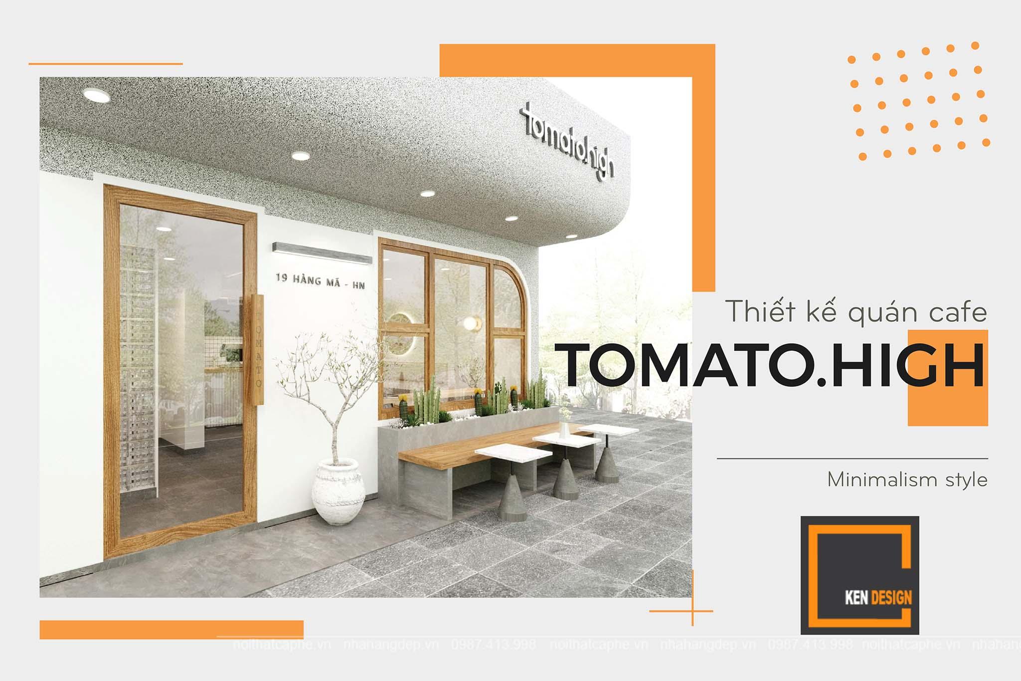 Thiết kế quán cafe tomato.high – nghệ thuật biến tấu diệu kỳ từ những đường nét tinh giản