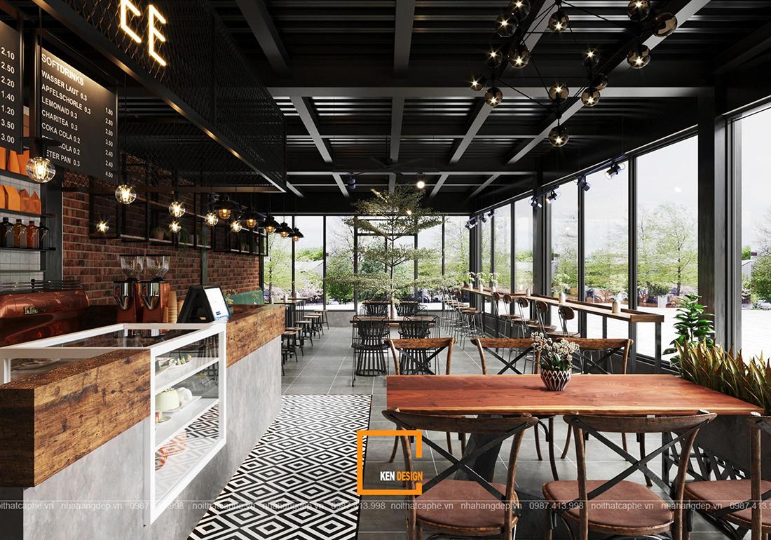 Dấu hiệu nhận biết một thiết kế quán cafe phong cách Industrial đẹp