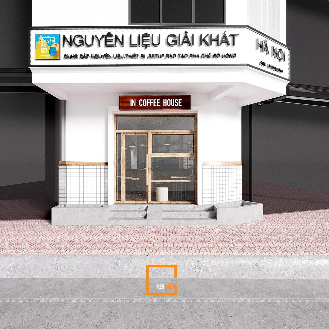 Thiết kế quán In Coffee House -  viên ngọc châu mộc mạc giữa phố thị phồn hoa