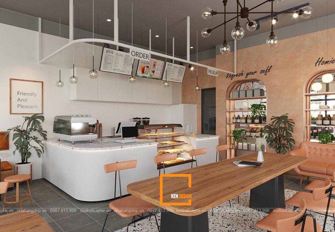 Nét trẻ trung hiện đại ấn tượng trong thiết kế quán Homie Coffee