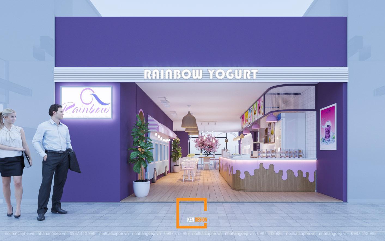 Thiết kế quán kem RainBow Yogurt tươi trẻ tại Nha Trang