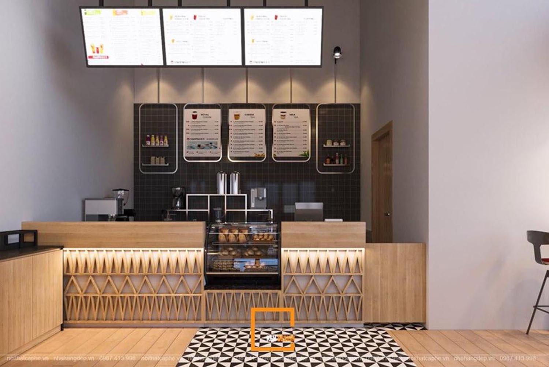 thiết kế quán trà bánh