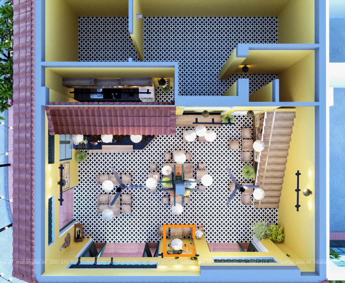 thiết kế quán trà chanh Lắc Lắc