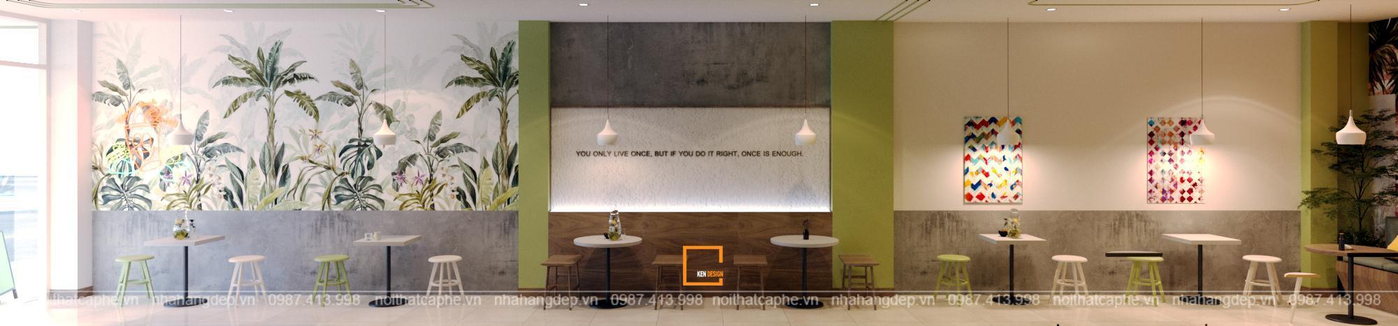 Thiết kế quán trà chanh Luna