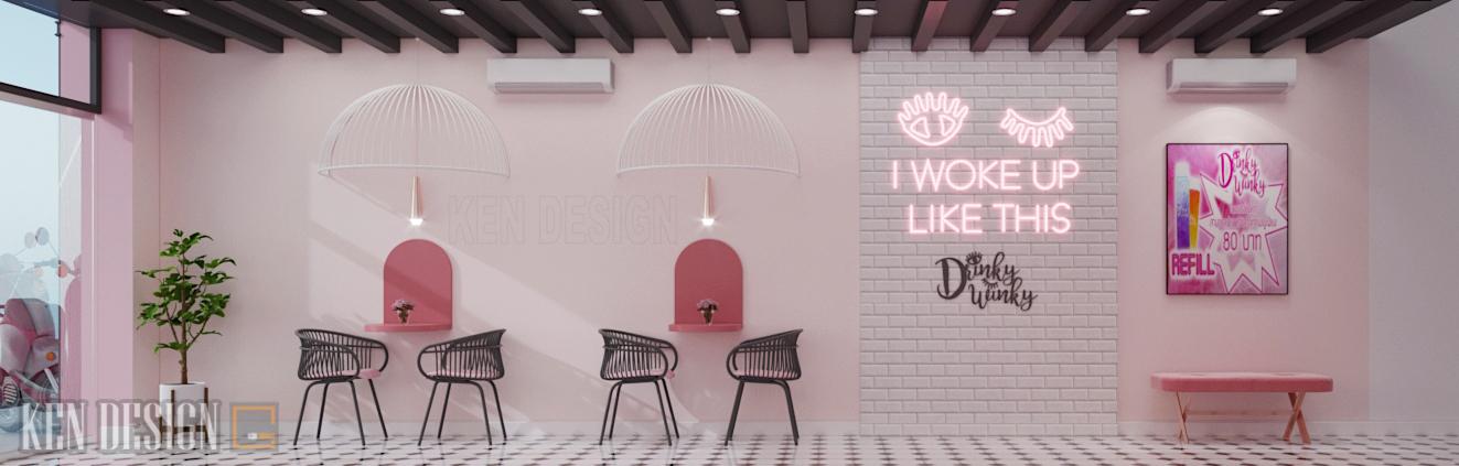 Thiết kế quán trà sữa Drinky Winky