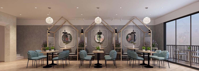 Thiết kế quán trà sữa Liu Li Jing